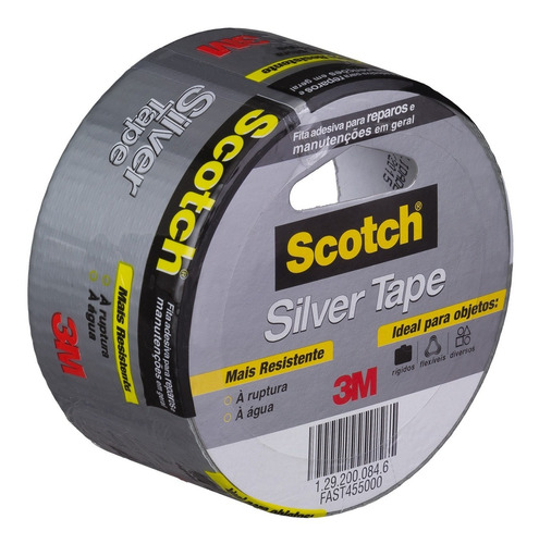 fita silver tape 45mm x 5m prata original 3m
