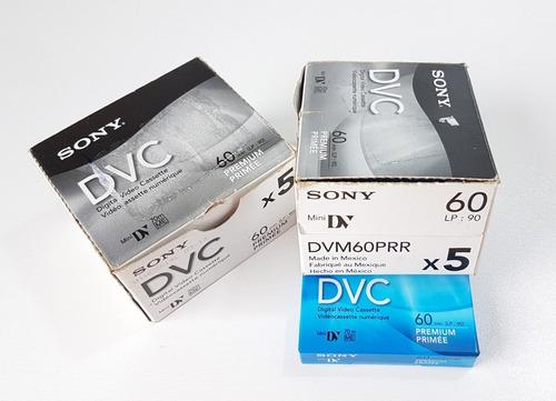 fita sony digital dvc 60 - 10 unidades - 2 caixas c/ 5 cada