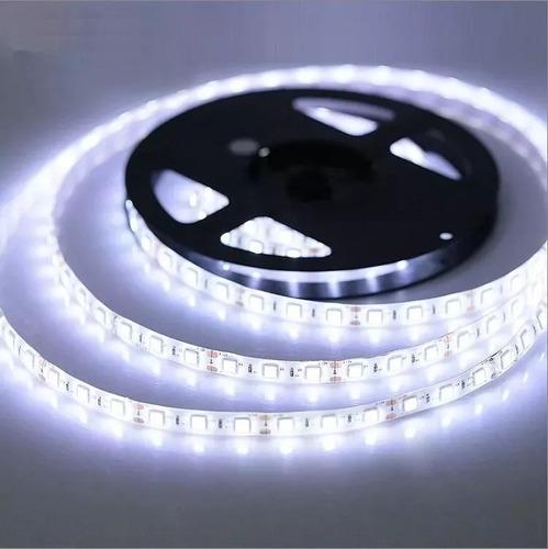 fita super led 5050 branco quente/frio  300 leds 5m + fonte