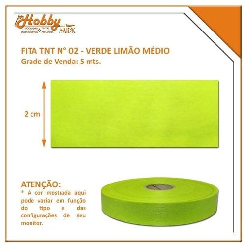 fita tnt nº 2 - verde limão médio - rolo com 50 mts
