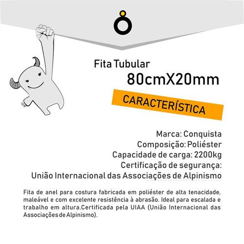fita tubular 80 cm - acrobacia aérea