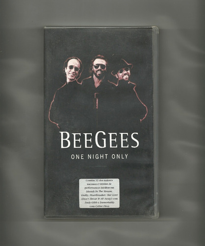 fita vhs - bee gees - one night only - 1999 - 32 sucessos