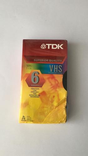 fita vhs original tdk t-120 - lacrada