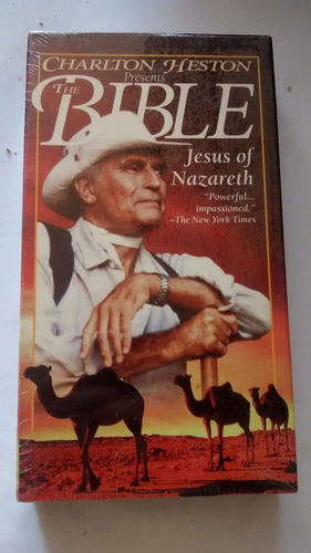 fita vhs - the bible - jesus of nazareth - charlton h.