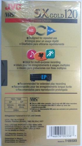 fita  video cassete t-120 jvc sx gold  caixa com 10 fitas