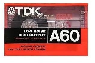 fitas k7 tdk a-60 novas lacradas - raridade