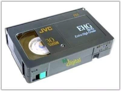 fitas vhs para dvd ou pendrive, hd externo e nuvem, mp4, mov