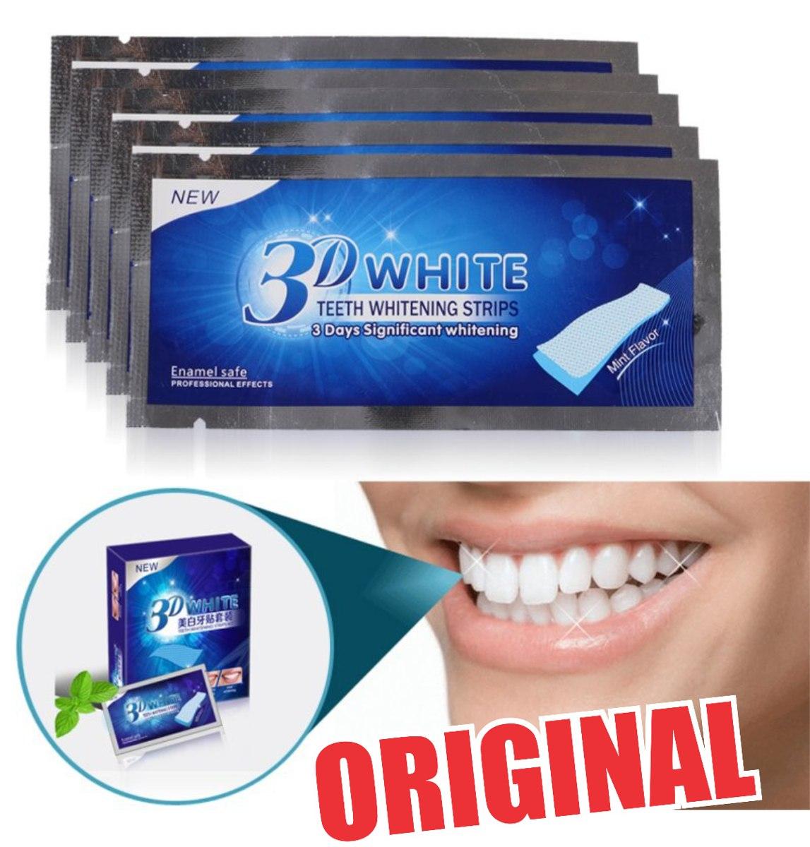 Fitas Whitening Strips Clareador Dental Branqueamento R 75 00 Em