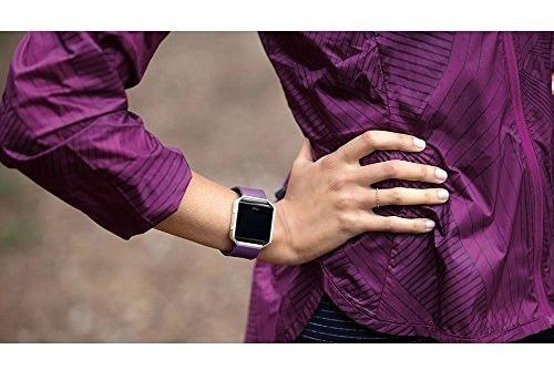 fitbit blaze, reloj inteligente monitor de actividad morado