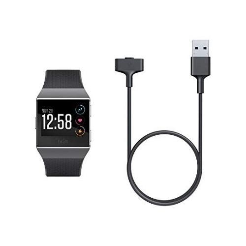 fitbit cable de carga para ionic, color negro reloj 472