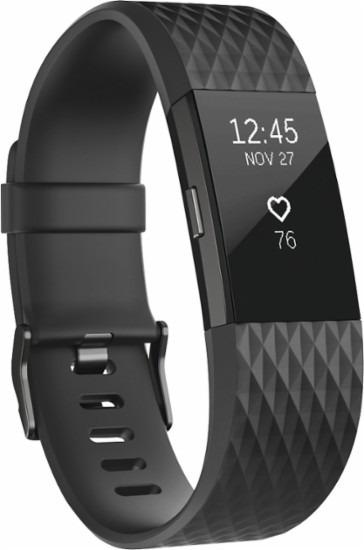 Fitbit Charge 2 Black Gunmetal Ed  Especial