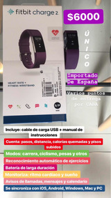 0e37303ac2c5 Fitbit Charge 2 Reloj Deportivo Cardio Fitness Decathlon