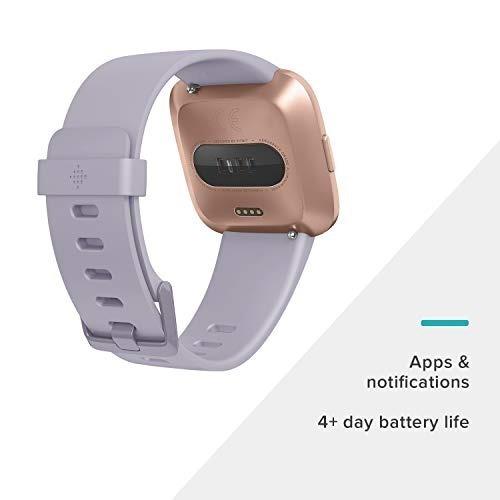 fitbit fb504rgablv smartwatch versa periwinkle, rose reloj