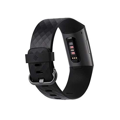 fitbit fitness bracelet charge 3, black aluminum reloj 4310