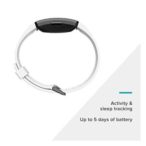 fitbit monitor inspire hr, color blanco/negro reloj a 3838