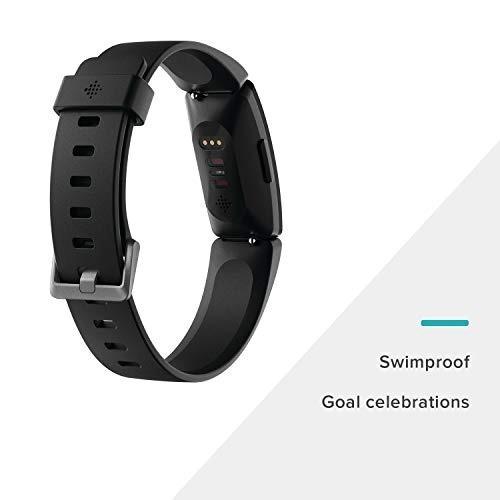 fitbit monitor inspire hr, color negro reloj 3838
