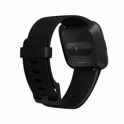 fitbit versa smartwatch black/black aluminum