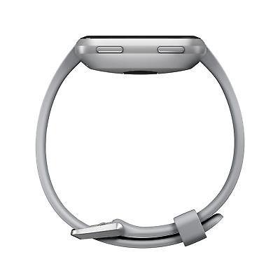 fitbit versa smartwatch gray/silver aluminum