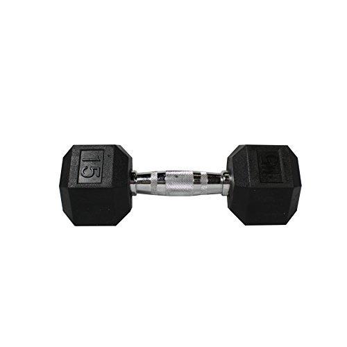 fitness republic hex dumbbells 15 lbs set (pesas de mano)