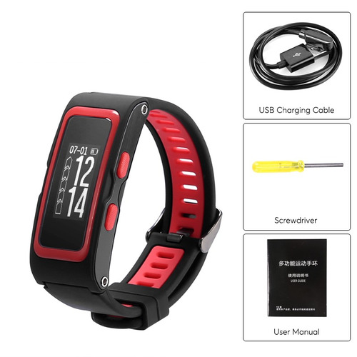 fitness tracker bracelet - heart rate, pedometer, gps, ip67