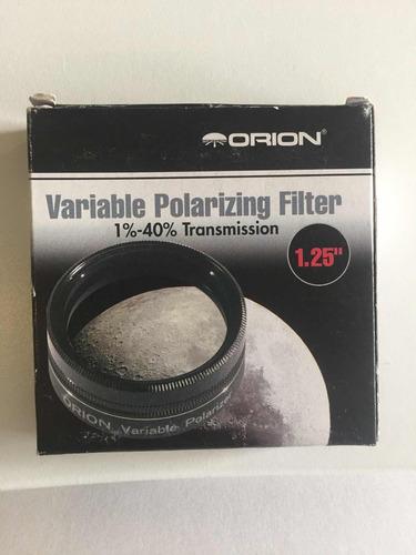 fitro polarizador orion 5560 1.25 pulgadas