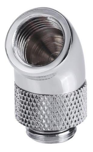 fitting's 45°graus rotativo cromado watercooler