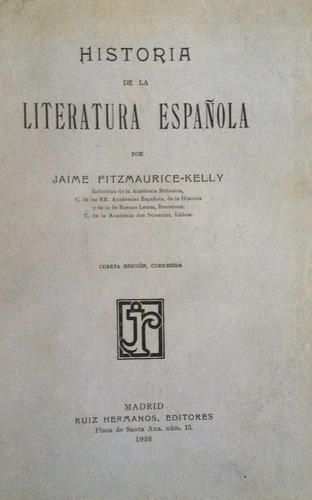 fitzmaurice-kelly, jaime -  historia de la literatura españo