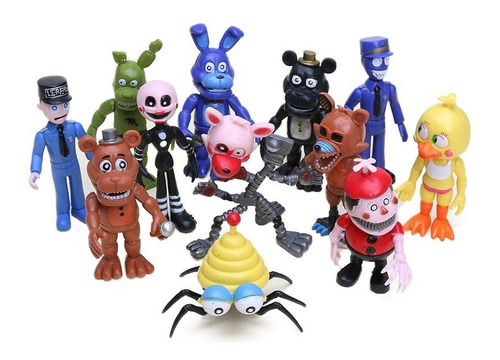 five night at freddy animatronics modelos 2019 + stickers
