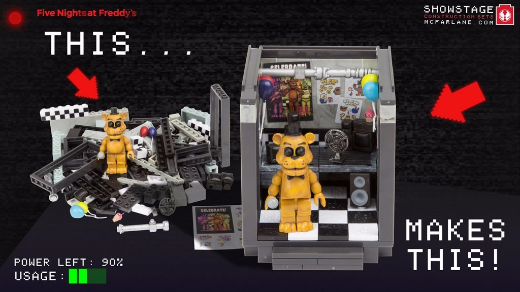 Five Nights At Freddy The Office Mcfarlane Toys 119 Pcs
