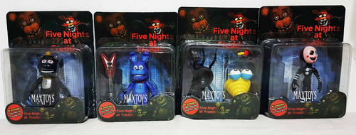 five nights at freddy's  blister x4 munecos