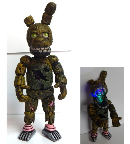 five nights at freddys figura springtrap articulado luz led