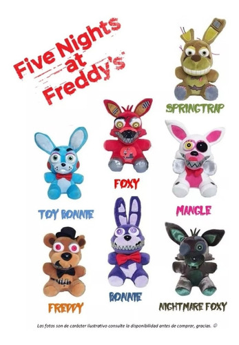 five nights at freddy's peluche f