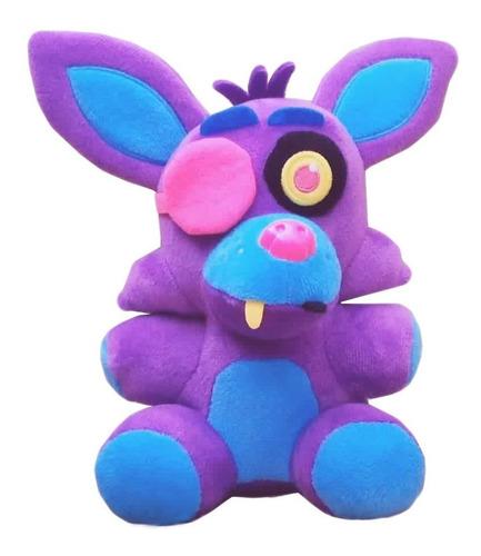 five nights at freddy's: peluche  foxy blacklight (purple)