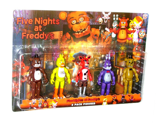 five nights at freddy's set x 5 muñecos - fair play toys