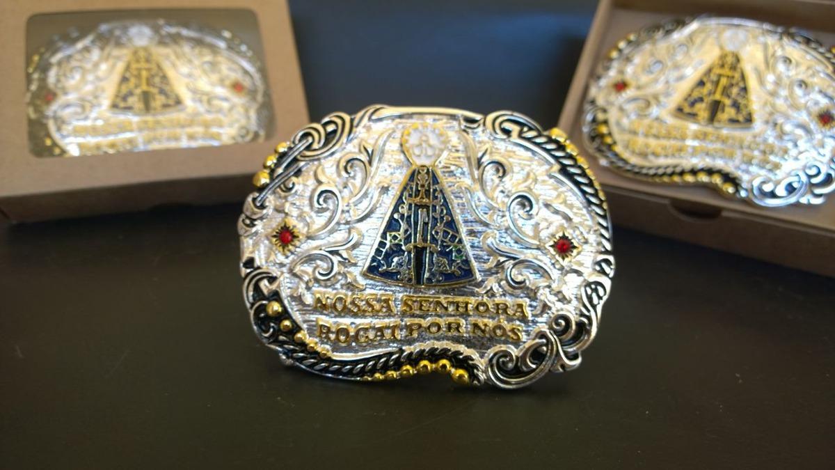fivela country cowboy nossa senhora banho ouro prata oferta. Carregando  zoom. 6a61e917d30