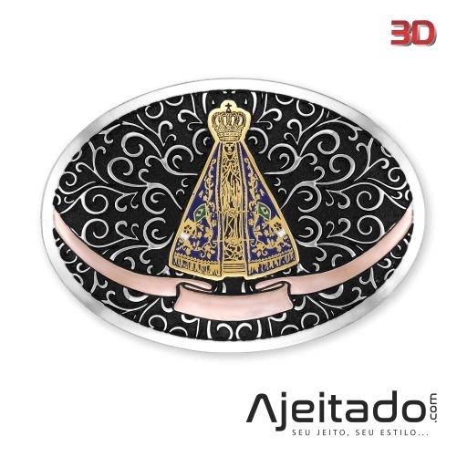 Fivela Nossa Senhora Jateada -tam M - Níquel ouro -8996fjndc - R ... de4c8c09ea6