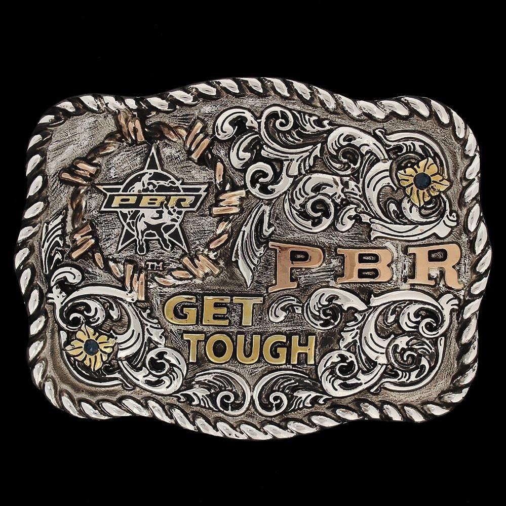 fivela pbr - gold series 3d get tough. Carregando zoom. 0970c1b892d