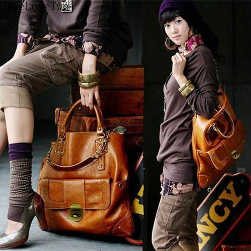 fivelovetwo vendimia grande del mensajero hombro bolsa moda