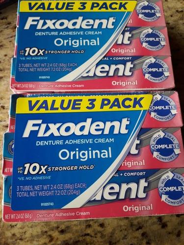 fixodent corega adhesivo dental 68 g cada uno. oportunidad.