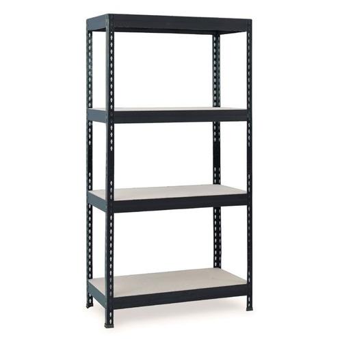 fixser estantería stabil metal y madera 4 niveles gris  tdt2