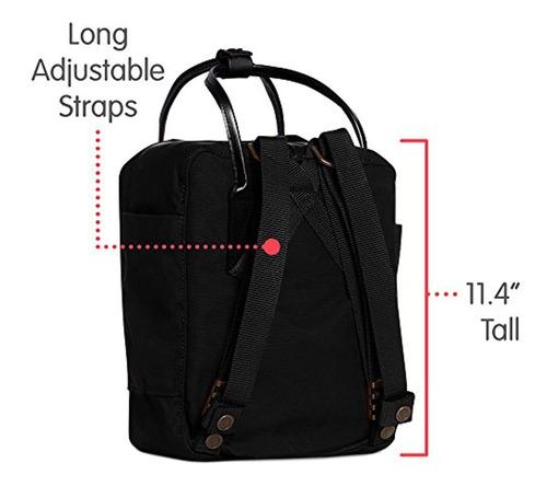 fjallraven - kanken no. 2 mini mochila para