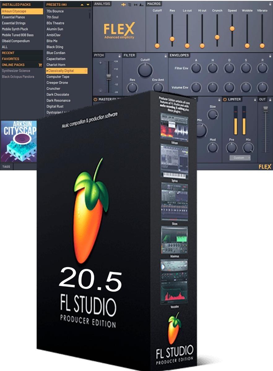 Fl Studio 20 V20 5 Contendo O Plugin Flex O Mais Recente