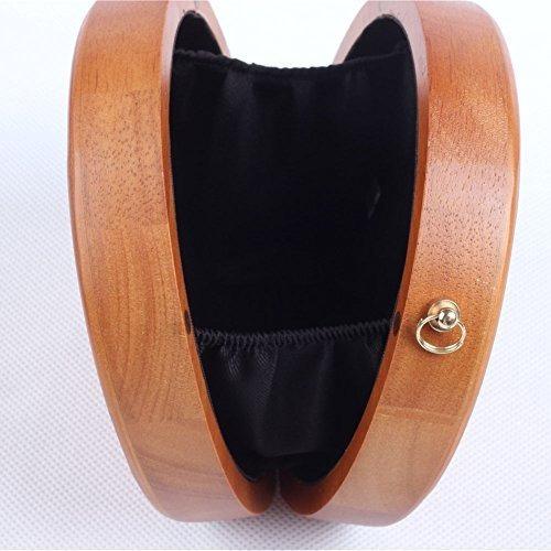 flada bolso de embrague de madera para mujer bolsos de noche