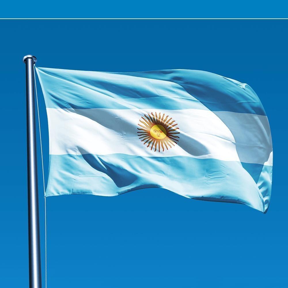 Flag Bandeira Da Argentina Dupla Face No Tamanho 150x90 Cm