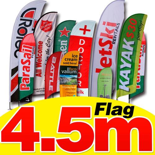 flag banner 4.50m diseño+estructura+impresion, regalartemas