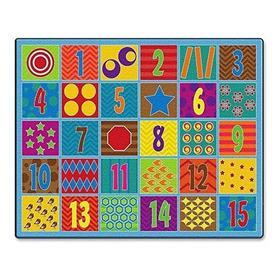 Flagship Carpets Counting Fun Alfombra De 30 Asientos
