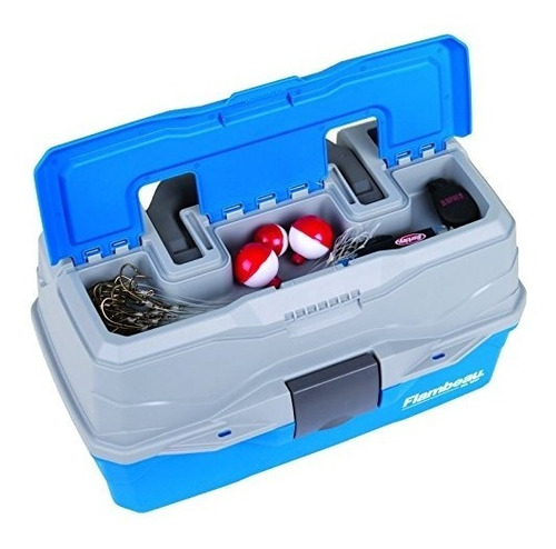 flambeau outdoors 6382 classic 2 bandejas tackle box, azul /