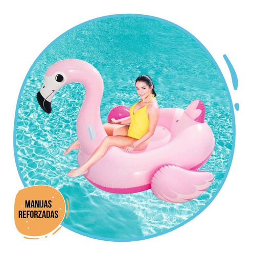 flamenco inflable bestway 41110 grande 1.91m x 1.78m pc
