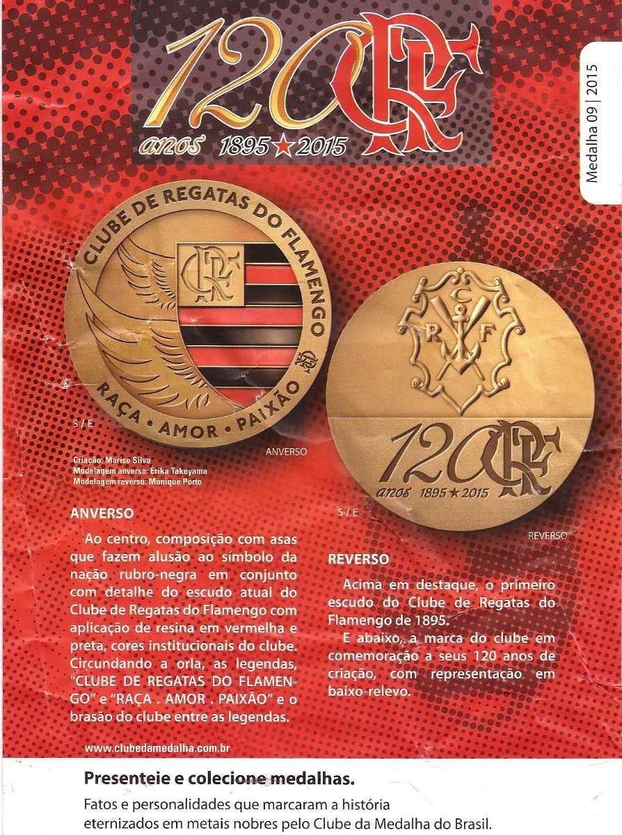 29d5a3f4bb Flamengo-120 Anos Medalha De Prata