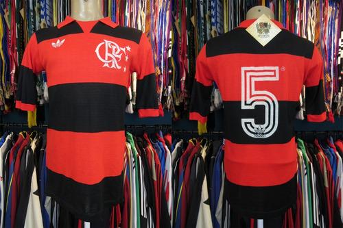 flamengo 1985 camisa titular tamanho g número 5.